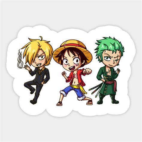 luffy zoro and sanji chibis