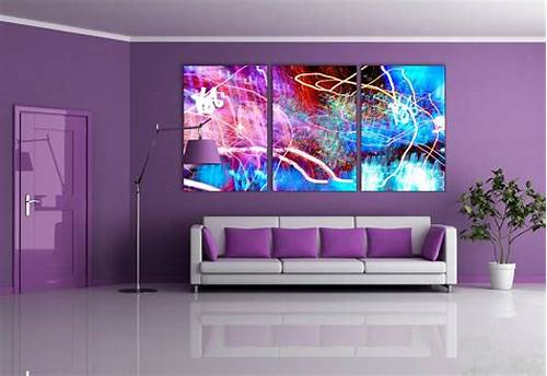 The Walls Are Painted In Black #Purple #Wall #Paint #Living #Room #Furniture #Decor #Ideas