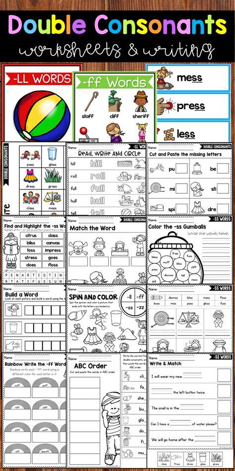 consonants worksheets consonants