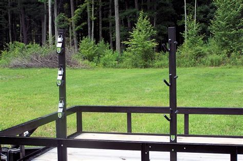 weedeater rack for trailer trimmer lockable trailer rack 3 place pk 6 pack em racks