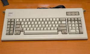 Original, Ibm, Pc, At, Keyboard, Thoroughly, Cleaned, And, Ansi, Modified, With, Soarer, U2019s, Converter