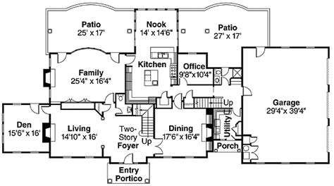 colonial style house plan with contemporary amenit