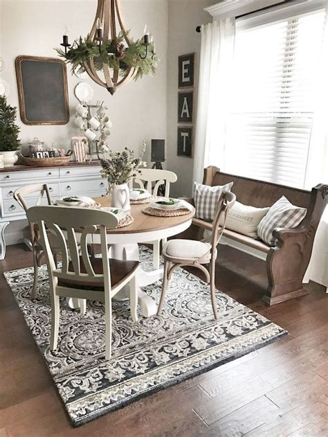farmhouse style round dining table farmhouse dining table decor ideas 1 besideroom com