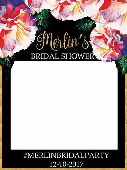 Bridal Usa Shower Flower Booth Prop Poster