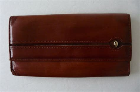 Amity Cowhide Wallet by Vintage Amity Cowhide Leather Burgundy Color Wallet Ebay