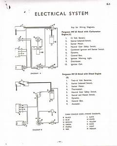 Can You Please Show Me The Wiring Diagram For A Massey Ferguson 35 Gasoline Starting Diagram