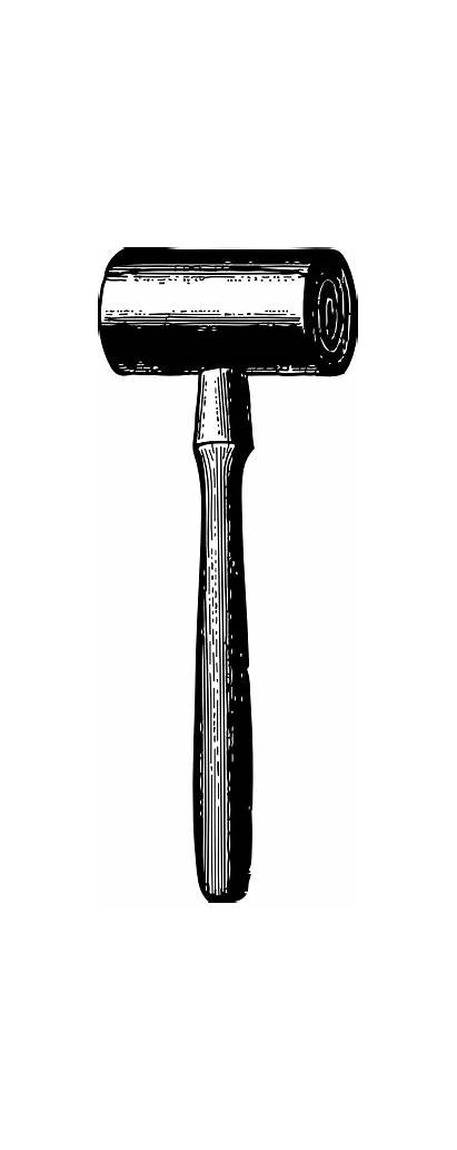 Mallet Clip Wooden Vector Svg Clker Carpenter