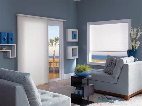 vertical cellular shades for sliding glass door window