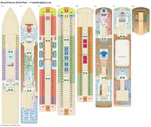 royal princess deck plans diagrams pictures