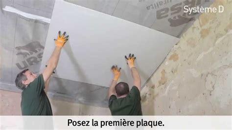 plaquer un plafond sous rant apr 232 s isolation