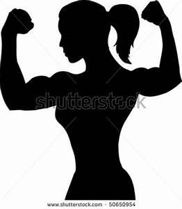 bodybuilding logos | Outline Of A Female Bodybuilder Stock ...
