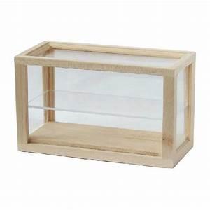 Petite Etagere Bois : petite vitrine bois brut avec etagere plexiglass ~ Teatrodelosmanantiales.com Idées de Décoration