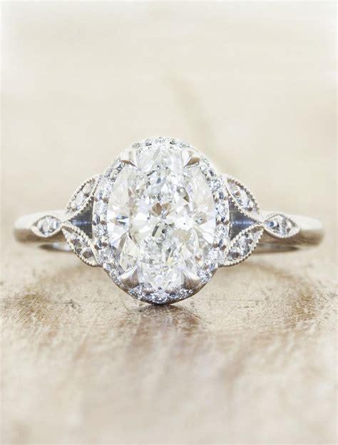 rachael oval diamond rose gold engagement ring ken