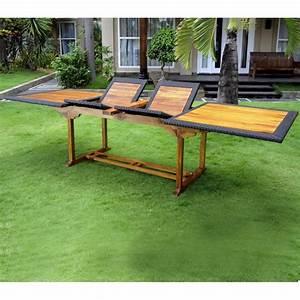 Table De Jardin Resine : table en teck en r sine tress e de grande taille pour votre jardin ~ Teatrodelosmanantiales.com Idées de Décoration