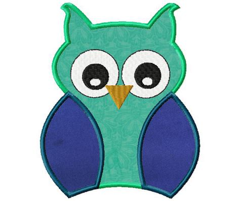 free applique designs free machine owl applique daily embroidery