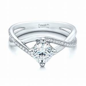 custom split shank diamond engagement ring 101239 With split shank wedding ring