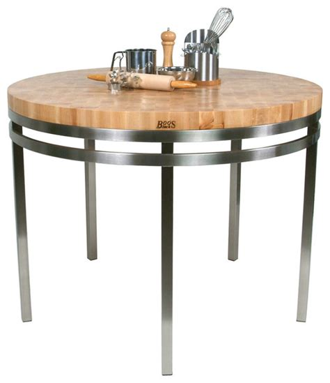 stainless steel kitchen island table boos maple stainless steel metro oasis 48 quot