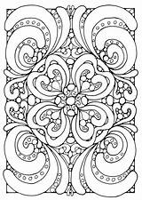Coloring Adult Pages Geometric Complex Popular sketch template