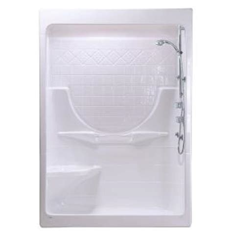 lasco bathtubs home depot maax montego i 33 in x 59 1 4 in x 85 in shower stall