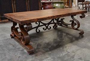 the mesa de centro espanola wrought iron coffee table With rustic wood and wrought iron coffee table