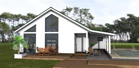Häuser Bauen by Bungalow 90 M 178 Mit Satteldach Amex Hausbau Gmbh