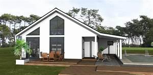 Bungalow Mit Garage Bauen : bungalow 90 m mit satteldach amex hausbau gmbh ~ Lizthompson.info Haus und Dekorationen