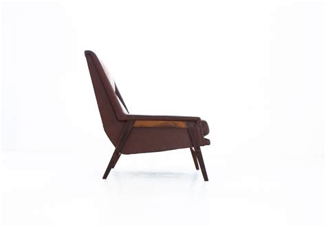 Mid-century Swedish Vinyl And Fabric Armchair, 1950s For