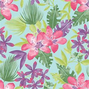 NEW RASCH PARADISE FLOWERS PATTERN TROPICAL FLORAL LEAF ...