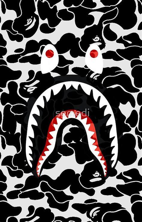 bape iphone wallpaper shark black bape camo wallpaper pinterest bape Bape