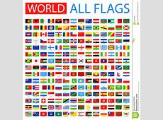 All World Vector Flags 210 Items Stock Vector