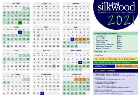 calendar silkwood school