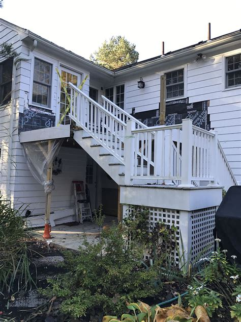 rebuilding  waterproof deck professional deck builder