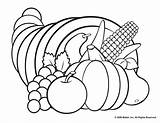 Coloring Cornucopia Pages Printable Popular sketch template