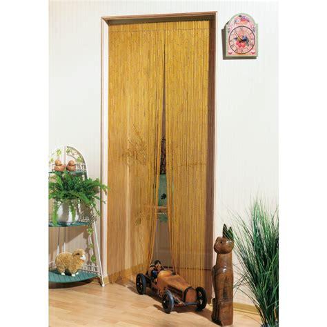 rideau de porte bambou naturel morel 120 x 220 cm de rideau de porte