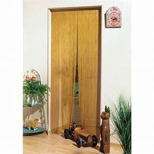 Rideaux De Porte Exterieur : rideau de porte bambou naturel morel 120 x 220 cm de rideau de porte ~ Dode.kayakingforconservation.com Idées de Décoration