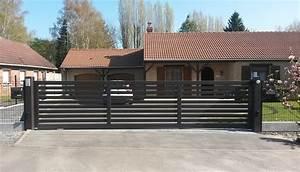 Portail Alu 4m : portail coulissant 3m50 ides id es de maisons ~ Voncanada.com Idées de Décoration