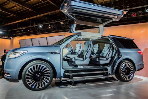 lincoln navigator concept sprouts gullwing doors