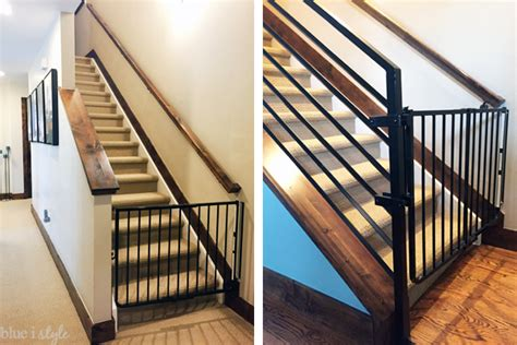 banister safety gate diy with style how to child proof horizontal railings