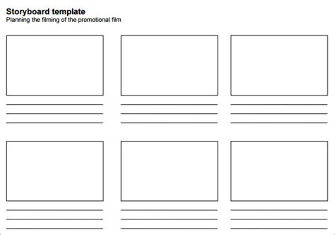 storyboard templates  excel
