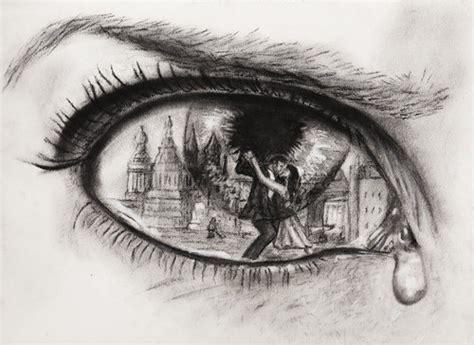 Anime Eye Reflection Eye Eye Reflection Pencil And In Color Eye