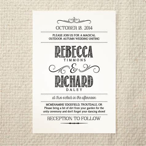 diy wedding invitation template handlettered rustic love