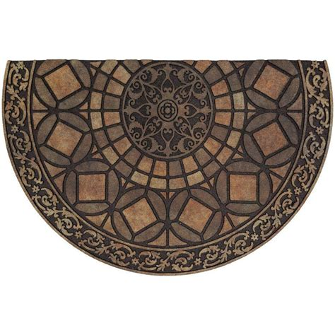 Half Circle Doormat by Door Mat Rubber Doormat Iron Brown 23 In X 35 In