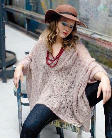 trinity knit poncho pattern allfreeknitting