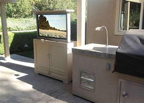 outdoor stereo cabinet ideas outdoor entertainment enjoy an outdoor television or set