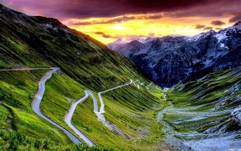 mountains, Clouds, Landscapes, Nature, Roads Wallpapers HD ...