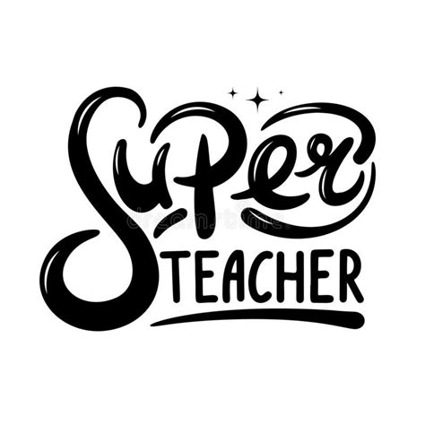 super teacher hand lettering quote happy teachers day