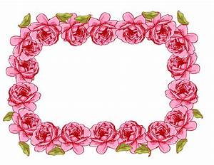 free digital rose frame and borders in vintage style ...