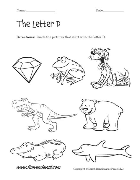 preschool letter d worksheets free worksheets library