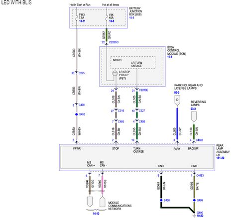 led bliss tail light wiring diagram ford  forum