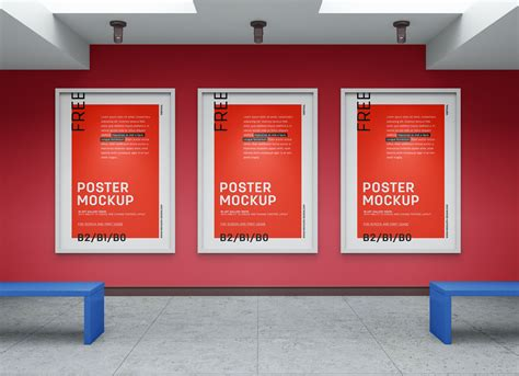 art gallery wall canvas poster mockup psd good